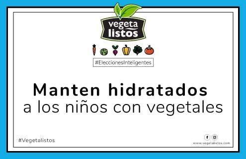 Jul12 17 manten hidratados a los niños con vegetales