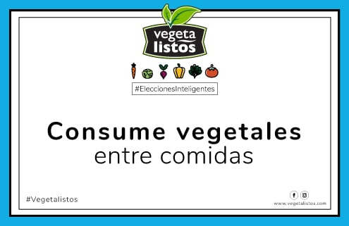 Sep10 17 Consume vegetales entre comidas