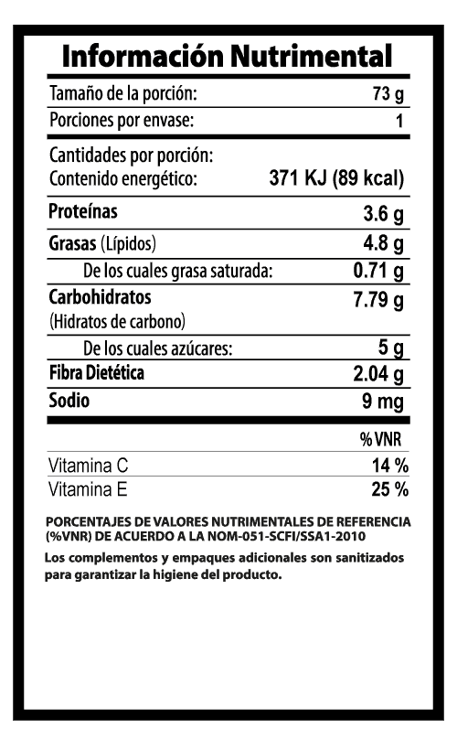 tomate cherry vegibite tabla nutrimental vegetalistos