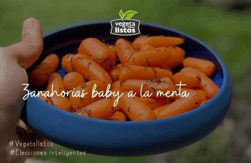 Zanahorias baby a la menta